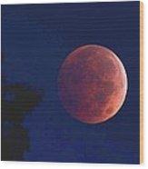 Blood Red Moon Wood Print