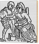 Bloodletting, 15th Century Wood Print