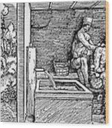 Bloodletting, C1500 Wood Print