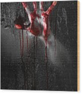 Bloody Hand Wood Print by Jt PhotoDesign