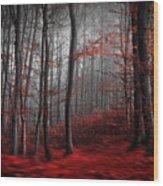Bloody River Wood Print