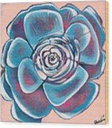 Bloom I Wood Print