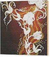 Blooming Flame Wood Print