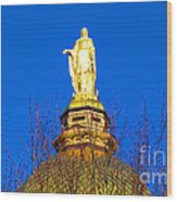 Blooming Golden Dome Wood Print