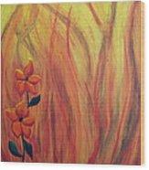 Blooming In Hell 1 Wood Print