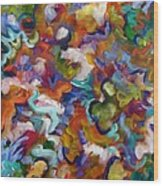 Blooming Joy Wood Print