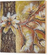 Blooming Tree Wood Print by Elena  Constantinescu