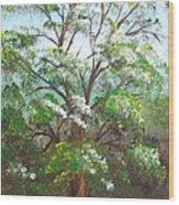 Blooming Tree Wood Print