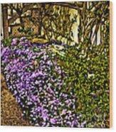 Blooms Beside The Steps Wood Print