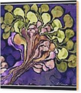 Blossom Of Spring    Purple Wood Print