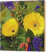 Blossom Yellow Gerbera Wood Print