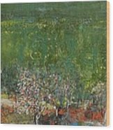 Blossoming Tree In The Garden Wood Print