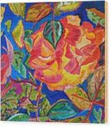 Blossoms Aglow Wood Print