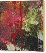 Blotted Credibility Wood Print