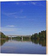 Blountstown Bridge On The Apalachicola River Wood Print