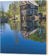 Blow Me Down Mill Cornish New Hampshire Wood Print by Edward Fielding