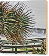 Blowin At The Beach Wood Print