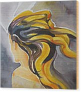 Blowin' In The Wind Wood Print by Patricia Howitt