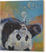 Blowing Bubbles Wood Print