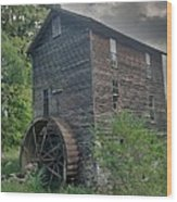 Blowing Cave Mill Wood Print by Janice Spivey