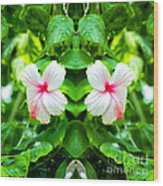 Blowing In The Breeze Mirror Image Wood Print