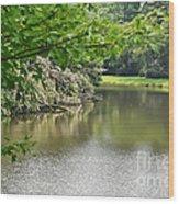 Blowing Rock Lake Wood Print