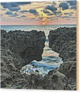 Blowing Rocks Sunrise Wood Print