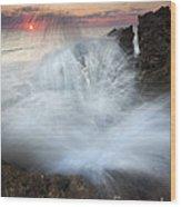 Blowing Rocks Sunrise Explosion Wood Print by Mike  Dawson