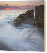 Blowing Rocks Sunrise Wood Print