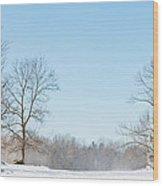 Blowing Snow Wood Print