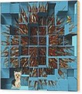 Blowout Wood Print