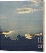 Blu-ray Sunset  Wood Print
