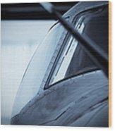 Blue 12 Wood Print