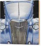 Blue 1937 Chevy Too Wood Print