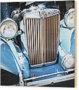 Blue 1953 Mg Wood Print
