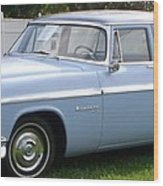 Blue 1955-56 Chrysler Wood Print