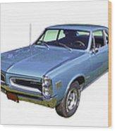 Blue 1966 Pointiac Lemans Wood Print