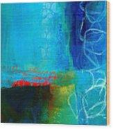 Blue #2 Wood Print