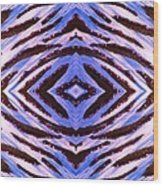 Blue 42 Wood Print