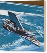 Blue 57 Chevy Bel Air Wood Print