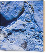 Blue Abstract 2 Wood Print