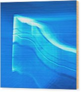 Blue Abstract 3 Wood Print