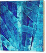 Blue Abstract Art - Paths - By Sharon Cummings Wood Print