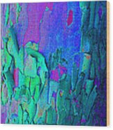 Blue Abstract Trunk Wood Print