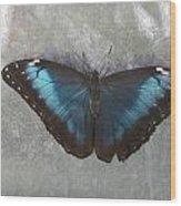 Blue And Grey Wood Print