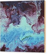 Blue And Purple Abstract Wood Print
