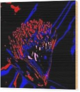 Blue And Red Carnival Wood Print