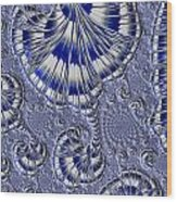 Blue And Silver 1 Wood Print