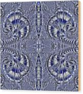 Blue And Silver 2 Wood Print