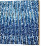 Blue And Silver Plastic Abstract Wood Print